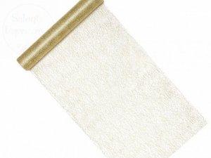 Siatka dekoracyjna Fibra złoty 0,36x9m