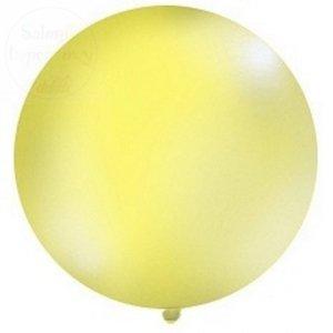 Balon 1 metr pastel okrągły żółty