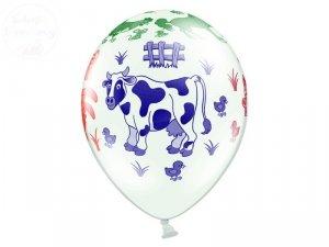 Balony 14 cali białe pastelowe Farma 1szt