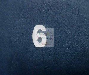 Cyferka drewniana biała 6 - 1szt