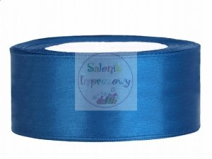 Tasiemka satynowa niebieska 25mm/25m