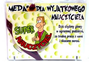 Medal podstawka DLA SUPER NAUCZYCIELA