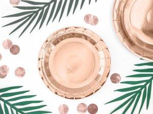 Talerzyki okrągłe, różowe złoto 18cm