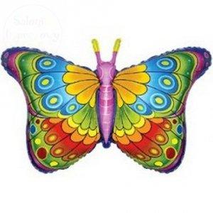Balon foliowy 24 cale Kolorowy Motyl