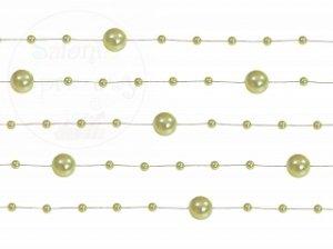 Girlanda perłowa kolor jasna oliwka 1,3m 5szt