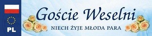 """Tablica rejestracyjna ślubna """"Goście weselni"""" 1szt"""