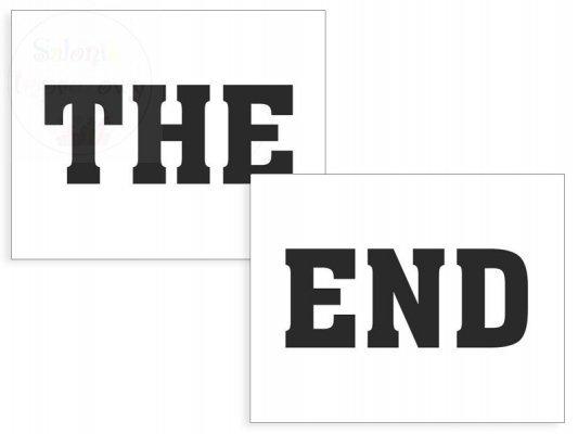 """Naklejki na buty """"THE END!""""  2szt NB7"""