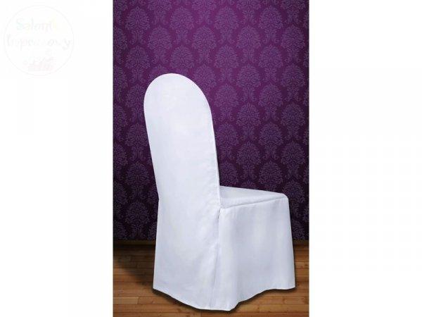 Pokrowiec z matowej tkaniny biały - 1szt