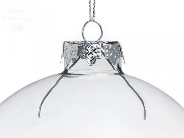 Bombka szklana, bezbarwna 8 cm - 1szt