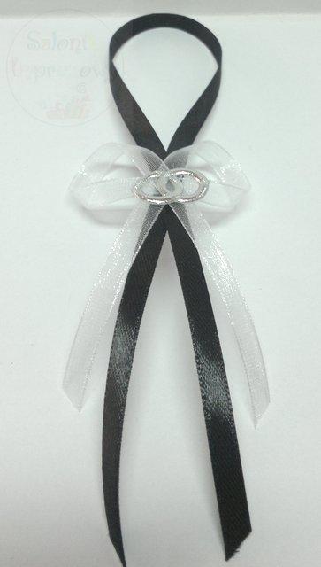 Zawieszki na alkohol czarno-białe z obrączką 10szt