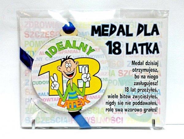Medal podstawka dla 18-latka