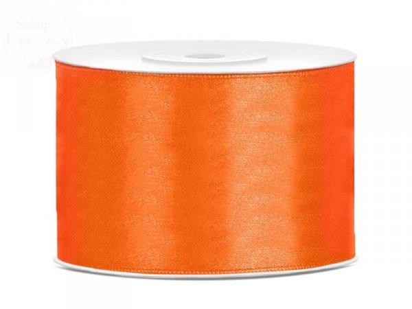 Tasiemka satynowa pomarańczowa 50mm / 25 m