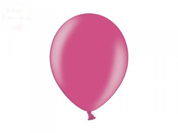 Balony 12 cali metalic ciemnoróżowe 1szt