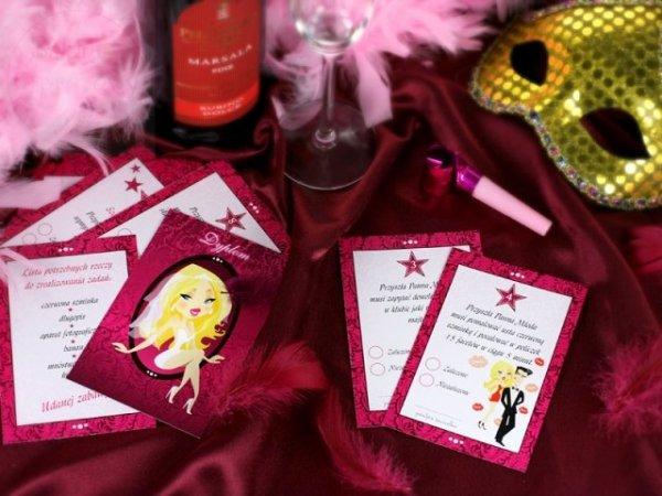 Karty do gry na wieczór panieński do gry w klubie