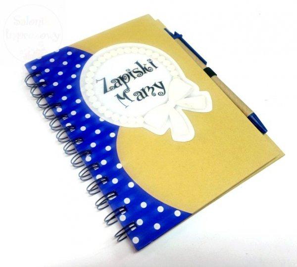 """Notatnik kulinarny"""" Zapiski Mamy""""  + długopis"""