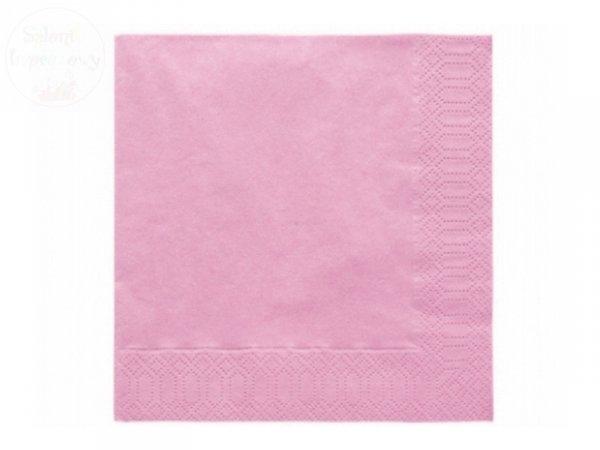 Serwetki 3 wartsw 33x33 j.różowe 20 szt