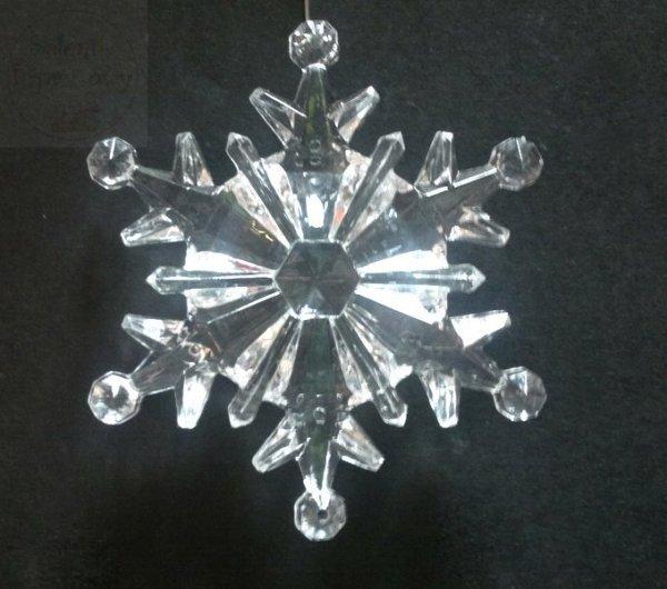 Śnieżynka akrylowa duża śr. 10 cm