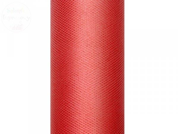 Tiul gładki czerwony 0,3 x9m 1szt