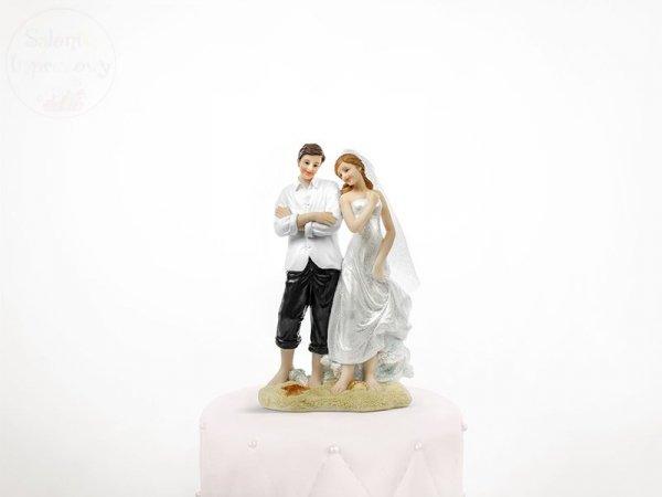 Figurka para młoda na plaży 1szt