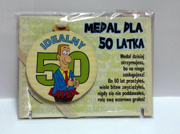 Medal podstawka dla 50-latka