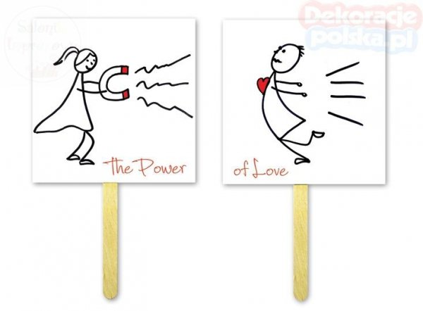 Tabliczki do fotobudek THE POWER / OF LOVE