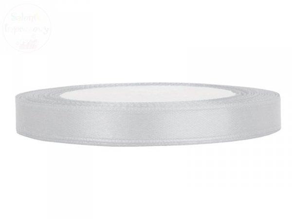 Tasiemka satynowa jasno siwa 6mm/25m