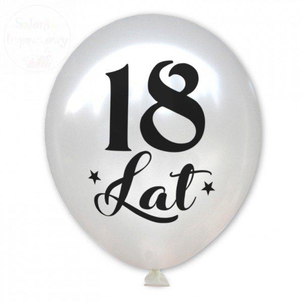 Balony biały metalik  18 Lat