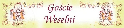 """Tablica rejestracyjna ślubna """"Goście weselni"""" TT51"""