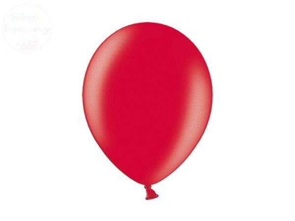 Balony 12 cali metalik czerwony