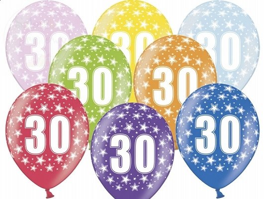 "Balony 14 cali mix kolor ""30"""