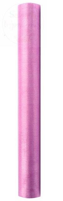 Organza 0,36x9m gładka różowa ORP-081