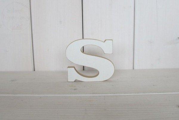 """Litera drewniana wys. 18 cm """"S"""" 1szt"""