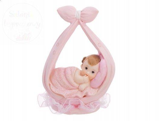 Figurka dziewczynka w różowej chuście 11 cm DF2D