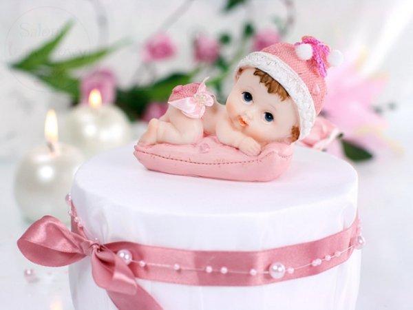 Figurka dziewczynka z różową poduszką DF5D