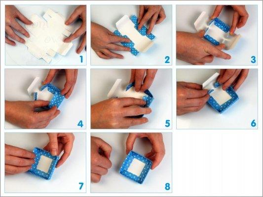 Pudełeczka dla gości białe z kokardką 10 szt PUDP6