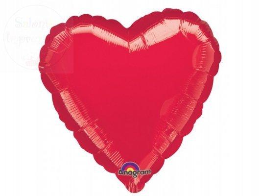 Balon foliowy 18cali Serce czerwone 1szt