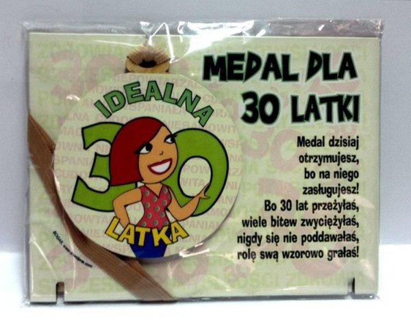 Medal podstawka dla 30-latki