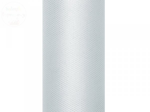 Tiul na szpulce 30 cm x 9 m jasno szarym