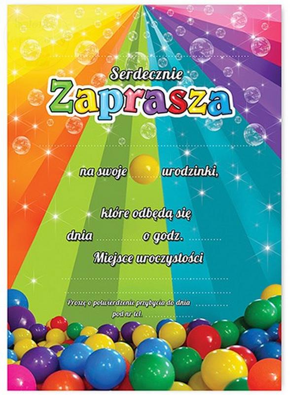 """Zaproszenie okolicznościowe """" KULKI"""" 1szt"""