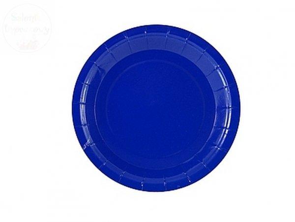"""Talerzyki papierowe """" Niebieskie  """" 18cm- 6szt"""