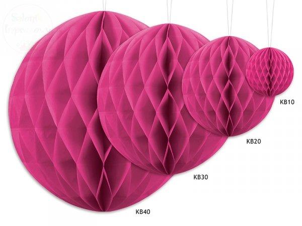 Kula bibułowa ciemnoróżowa 40 cm