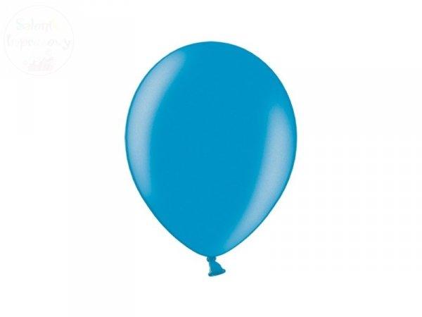 Balony 12 cali metalik karaibski niebieski  1 szt