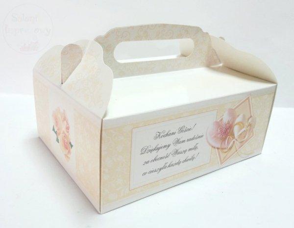 Pudełko na ciasto weselne, z całym dnem NR 10