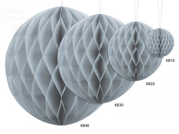 Kula bibułowa j. szara 30 cm
