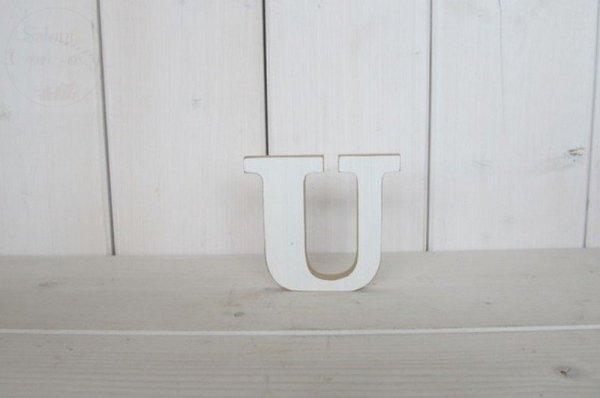 """Litera drewniana wys. 18 cm """"U"""" 1szt"""