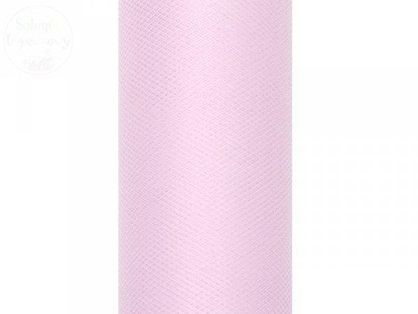 Tiul na szpulce 30 cm jasnoróżowy