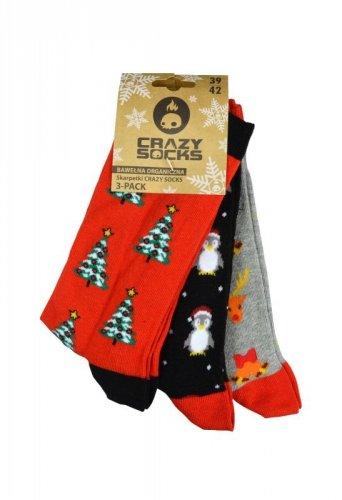 Skarpety Crazy Socks Xmas/ASS 1 Bio A'3