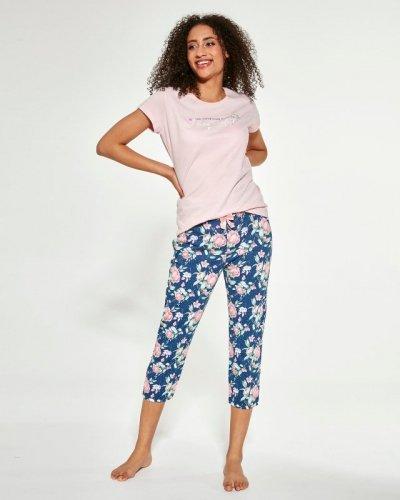 Piżama Cornette 466/281 Beautiful kr/r trzyczęściowa damska