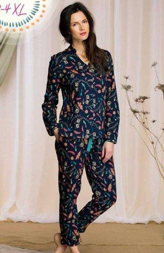 Rozpinana piżama damska Key LNS 931 B21
