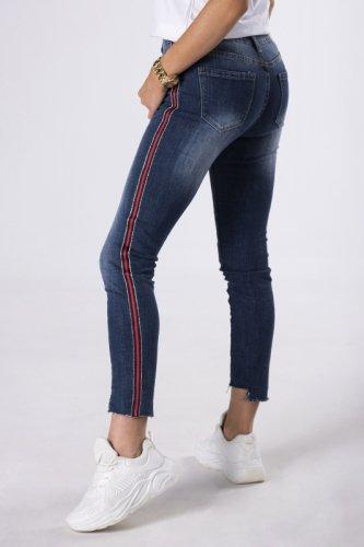 jeansy z lampasami